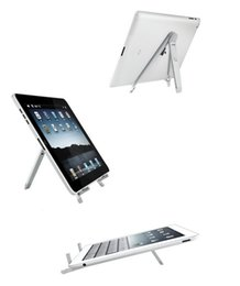 Wholesale Cell Phone Racks - DHL The latest tablet computer desktop flat rack yaumcha, cell phone PAD tablet triangle bracket 7-10 inches
