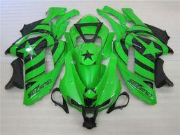 Wholesale Black Ninja Stars - Free gifts New TOP ABS Motorcycle bike Fairing kits Fit for KAWASAKI Ninja ZX6R 07 08 ZX6R 636 2007 2008 bodywork set nice green black star