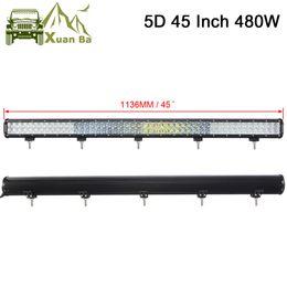 faróis de nevoeiro Desconto Xuanba 5D LED Barra de Luz 45