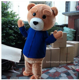 Wholesale Cheap Brown Teddy Bears - teddy bear mascot costume free shipping, cheap high quality carnival party Fancy plush walking bear mascot adult size.
