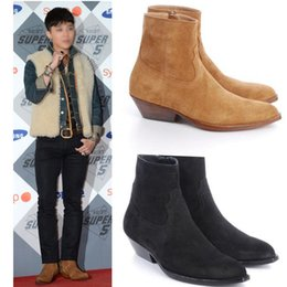 Wholesale European Heels - Spring and Autumn 2017 European and American models Martin boots Chelsea boots cowboy desert boots personality tide