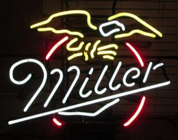 """Wholesale Neon Sign Eagles - Miller Eagle Birds Neon Sign Light Custom Handmade Real Glass Tube Pub Home Beer Bar Motel Hotel Store Display Neon Signs 17""""X14"""""""