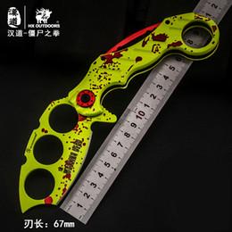 Wholesale Field Knives - HX OUTDOORS FOX NEW karambit field survival knife body free outdoor folding Self-defense EDC claw
