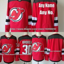 Wholesale Santini Jerseys - Mens 2017-2018 New Jersey Devils 19 Travis Zajac 34 Steven Santini 35 Cory Schneider 28 Damon Severson 37 Pavel Zacha Custom Jersey