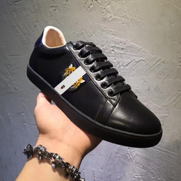 Wholesale Canvas Shoes High Top Women - Genuine Leather casual Shoes Fashion Brand shoes Embroidered tiger Top High Quality men and women Shoes Lace-Up Round Toe 58498546