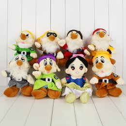 Wholesale Seven Dwarfs Plush Wholesale - Movie Snow White and the Seven Dwarfs Plush Toy Soft Stuffed Plush Doll for Kids Gift Free Shipping Retail