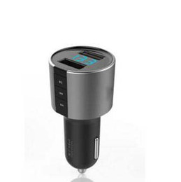 Wholesale Tablet Speaker Amplifier - Luxury C26S Metal Bluetooth Handsfree Car Mp3 FM Transmitter 2Ports 3.4A USB Car Charger For Iphone samsung ipad Tablet With Retail box