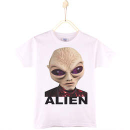 Wholesale Christmas Discount Clothing - 2017 Special Discount Kids Clothes Children T-shirt Cotton ET Alien Boys T Shirts Girls Tops Baby Camiseta 4T-12T Free Shipping