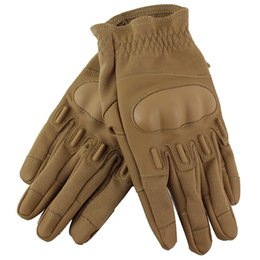 Wholesale Airsoft Combat - Newly Outdoor Combat Slip-resistant Cut resistant Full Finger Gloves Paintball Airsoft Shooting Tactical Gloves for Sale