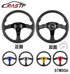 Wholesale Game Steering - RASTP -Cheap 350MM 14 Inch MOMO PVC Racing Sports Car Steering Wheel Game Steering Wheel RS-STW006