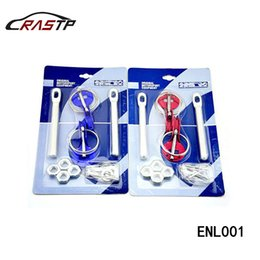 Wholesale Car Hood Pin Locks - RASTP - New Racing Universal Engine Hood Pin Lock Bonnet Latch Kit Race Car Motorcycle Color Red Blue Black RS-ENL001