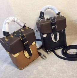 Wholesale Leather Woman Camera Bag - 2017 Wholesale new luxury orignal real genuine leather lady messenger bag camera box phone purse fashion satchel shoulder bag handbag 42999