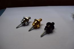 Guitarras de oro online-2PCS Schaller Style Straplock Guitarra Acústica Eléctrica Correa para bajo cierra el botón, cromo / negro / oro