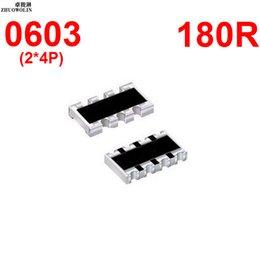 Wholesale Array Networks - Wholesale- 100pcs Lot 5% 0603 ARRAY 180 OHMS 8P Chip Resistor Networks Arrays Array Resistor YXSMDZ3527