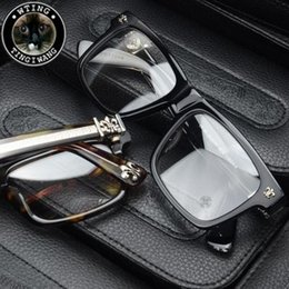 Wholesale Big Frame Vintage Eyeglasses - Man Woman 925 Silver chrome New Brand Vintage Optical Glasses Frame Retro Original Eyeglasses Men Women Big Eyewear Frames oculos de grau