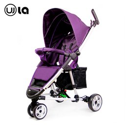 Wholesale Baby Tricycles - Wholesale-Baby strollers newborn Super light can sit and lying trolley folding baby children tricycle cart