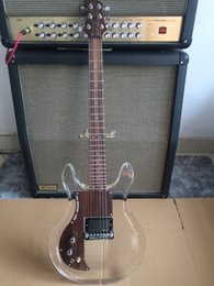 Wholesale Crystal Electric Guitar - Left-HandedNew product Dan acrylic electric guitar ,crystal electric guitar ,rosewood pickguard