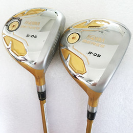 Wholesale Beres Golf Clubs - New Golf Clubs HONMA beres S-05 4Star Golf Fairway wood 3 15 5 18 loft Graphite Golf shaft and wood headcover Free shipping