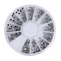 2019 hotfix de pérolas 2000 pcs 1.5mm Rodada Glitter Nail Art Pedrinhas decoração de unhas Roda Transparente Transparente