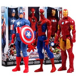 Wholesale Iron Man 12 - Marvel Super Hero Avengers Action Figure Toy Captain America,Iron Man, Wolverine, Spider-Man,Raytheon Model Doll Kids Gift 12