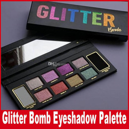 Wholesale Bomb Water - New Faced Makeup Glitter Bomb 10 color Eye shadow Palette Limited Edition PRISMATIC Eyeshadow Shimming Highlighter Comestics