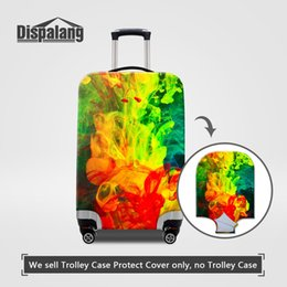 Wholesale Trolley Trunk Suitcase - Newest Dust Suitcase Protective Trolley Suitcase Covers Apply to 18~30 Inch Trunk Case Colorful Design Painting Travel On Road Luggage Cover