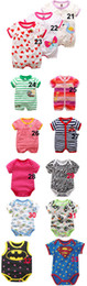 Wholesale Jumpsuit Short Unisex - Summer Baby Short sleeve clothes jumpsuits 0-12 Month bear romper Free