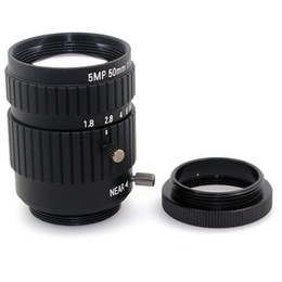 Wholesale Cs Camera - f1.8 5MP 50mm cctv lens Fixed Focus CS C Mount camera Lens for cctv Industrial Microscope Camera