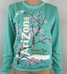 Wholesale Tea Blossoms - 2017 Autumn And Winter New Sweater Printing Chinese Elements Green Tea Plum Blossom Coat Long Sleeves Loose Women Sweater
