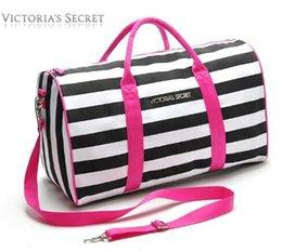 Wholesale Large Tote Storage Bag - 2017 Canvas secret Storage Bag organizer Large Pink Men Women Travel Bag Waterproof Victoria Casual Beach Exercise Luggage Bags