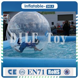 Wholesale Inflatable Water Walk - Free Shipping 2M TPU Inflatable Human Hamster Ball Water Walking Ball Inflatable Water Zorb Ball Giant Inflatables