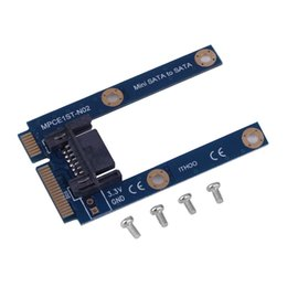Argentina Wholesale-1pc mSATA Mini Extender a 7 pines SATA HDD Convert Card Adapter C1 supplier msata card Suministro