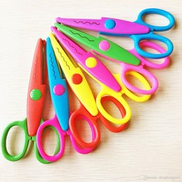 Wholesale Kids Craft Scissors - stainless steel household scissors 6x Scissors DIY Decorative Craft Border Scallop Wavy Fancy Pinking Shears for kids wn039