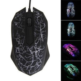 Wholesale Laptop Colors Button - Beitas USB Wired Mouse 2400DPI 3 Buttons Optical Gaming Game Mouse 7 Colors LED for PC Laptop Computer