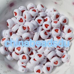 ultimo disegno Neckalce Jewelry branelli allentati 500pcs 4 * 7MM colori misti acrilico plastica opaco piatto tondo cuore perline per la creazione di gioielli da