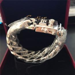 Wholesale Buddha 925 - New fashion men 925 sterling silver link chain Buddha to Buddha bracelet