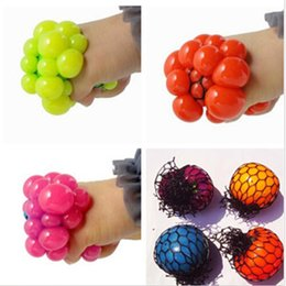 Wholesale Funny Stress Reliever - New Cute Anti Stress Face Reliever Grape Ball Autism Mood Squeeze Relief Healthy Toy Funny Geek Gadget Vent Toy