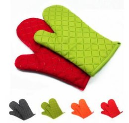 Wholesale Mitten Holders - Custom logo 1Pcs Kitchen Heat Resistant Silicone Glove Cooking Baking BBQ Microwave Oven Pot Holder Non-slip Mitten Mitts Supplies YD