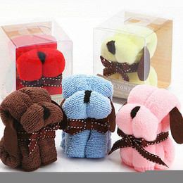 Wholesale Towel Ideas - 200PCS wedding supplies Product Size : 20 * 20CM Festivals small Dog puppy towel gift ideas birthday gift