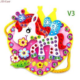 Wholesale Handmade 3d Stickers - Wholesale-EVA Diamond Cartoon Handmade DIY Hand-sewn Bag 3D Stickers Educational Child Toy
