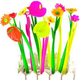 Wholesale Cute School Supplies Wholesaler - Wholesale- 6Pcs Kids Cute Flower Bloom Ball Point Pen Kawaii Floral Stationery 20cm Supplies School Office Accessories Gifts On Sale