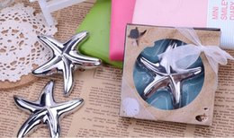 Wholesale Beach Theme Party Favors - New Fashion 100pcs lot New Bridal Shower Beach Theme Starfish Design Beer Bottle Opener Wedding Favors