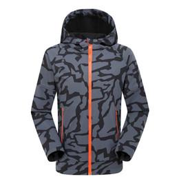Wholesale Warm Waterproof Winter Jackets - Brand UA Men Hoodie Coat Camouflage Jacket UA Under Waterproof Warm-up Top Clothes Armor Windbreaker Coats Man Winter Autum Sports Jackets