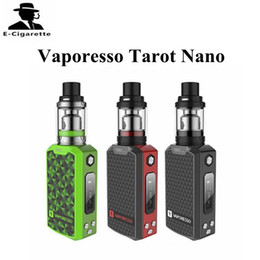 Wholesale Nano Green - Original Vaporesso Tarot Nano 80W Starter Kit with 2ml Tank Capacity Cigarette Ecig Vape Box Black Red Green Color