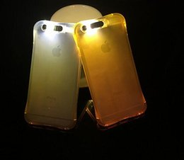 Wholesale Cheap Plastic Iphone Cases - 2017 Cheap TPU LED Flash Light Up Case Remind Incoming Call Cover for iPhone 7 SE 6 6S Plus Samsung S8 S7 S6 Edge Clear Transparent Skin