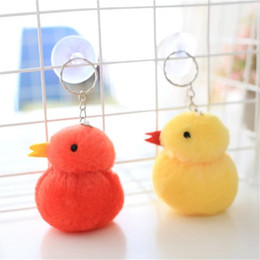 Wholesale Clear Plastic Photo Keychains Wholesale - Chicks they hang stuffed chicken away gifts wholesale year mascot figurines key wedding activities