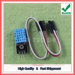 Wholesale Dht11 Sensor - Free Shipping 2pcs DHT11 temperature module humidity module temperature and humidity module DHT11 sensor (send DuPont line) H5A4