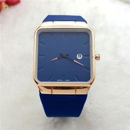 Wholesale Square Watches Silicone - Hot Men's luxury watches brand Ultra-thin fashion square watch For men Silicone Band Quartz Wristwatches Clock male Valentine Gift 2017