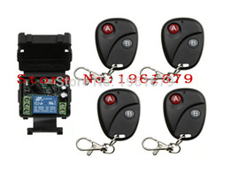Wholesale Appliance Switches - Wholesale- DC 12 v mini wireless remote control switch 1channal Intelligent home appliance system 1X receiver+4X transmitter