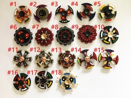 Wholesale Wholesale Spinning - Newest Double Bearings Fidget Spinner EDC Triangle Axe Round Compass Metal Hand spinners spinning Killing Time Fidget Spinner